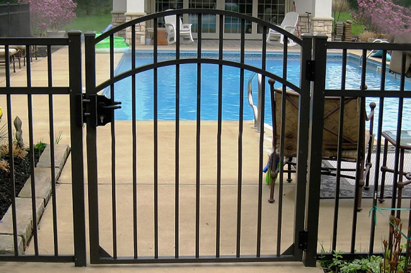 6063 Aluminum Pipe Garden Fencing with Gates