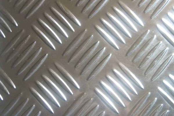 Checkered Aluminum Floor Plate with 5 bar chequers